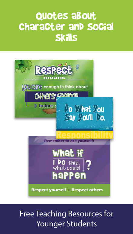 Quotes for kids about good character and social skills