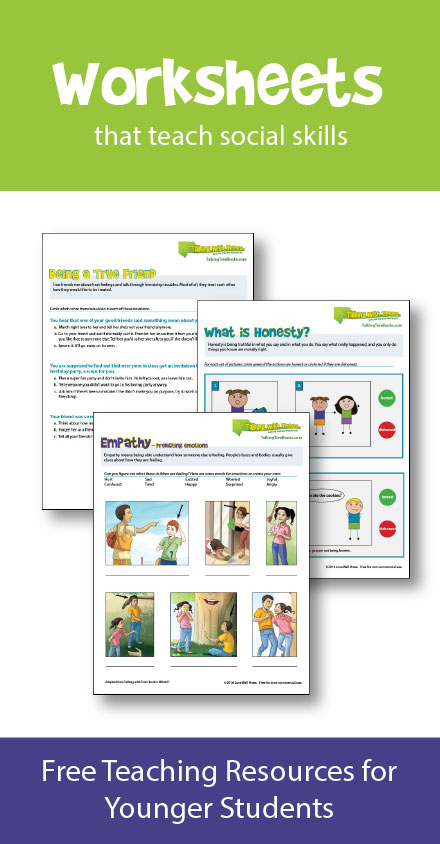 Character ed / social skills worksheets and teaching resources for kids
