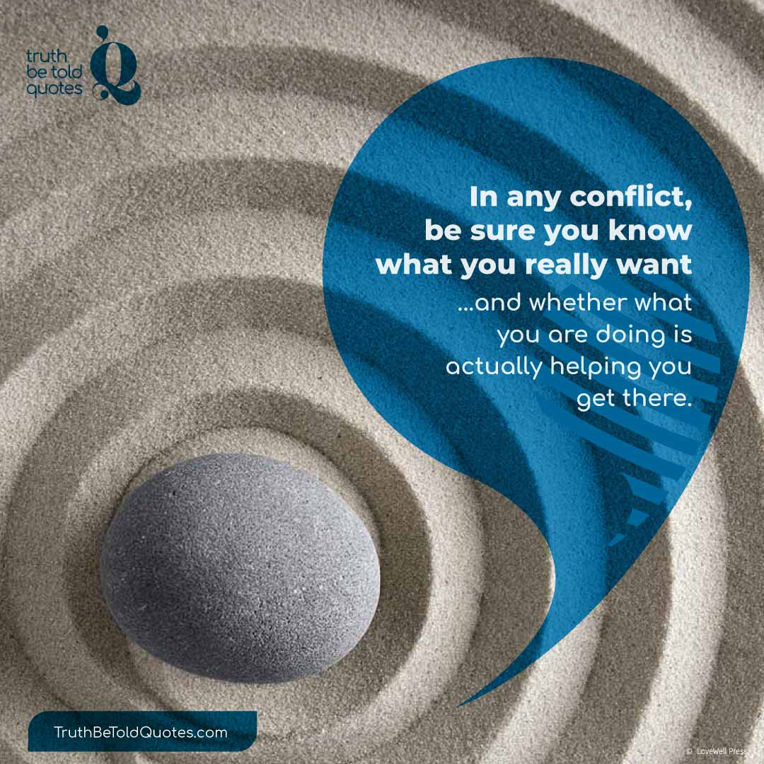 Quote for teens on conflict resolution and healthy relationships