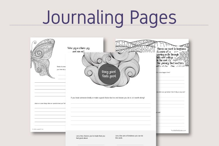Journaling worksheets for social emotional learning