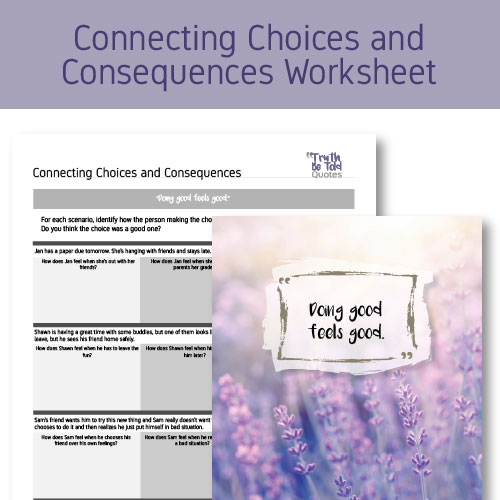 SEL Activity on connecting choices and consequences for teens